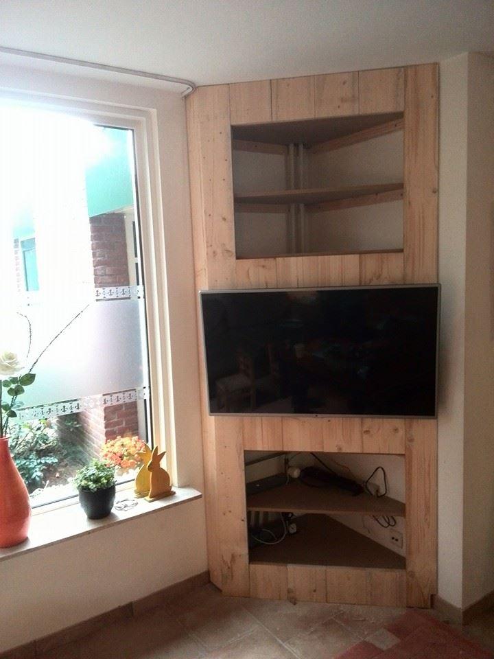 TV Meubel - Steigerhout